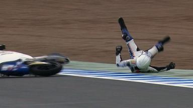 Jerez 2012 - Moto3 - FP3 - Action - Romano Fenati - Crash