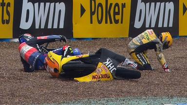Jerez 2012 - Moto3 - FP3 - Action - Vazquez and Miller - Crash