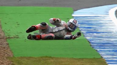 Jerez 2012 - Moto3 - FP3 - Action - Isaac Viñales - Crash