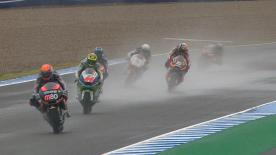 In the third and final wet practice session at the Jerez circuit, JiR Moto2 rookie Johann Zarco went fastest once again to assert his dominance in the treacherous conditions.