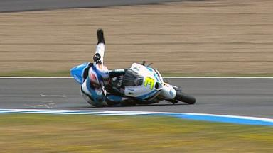 Jerez 2012 - Moto2 - QP - Action - Simone Corsi - Crash