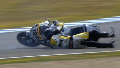 Jerez 2012 - Moto2 - QP - Action - Thomas Luthi - Crash