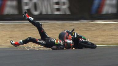 Jerez 2012 - Moto3 - QP - Action - Niklas Ajo - Crash