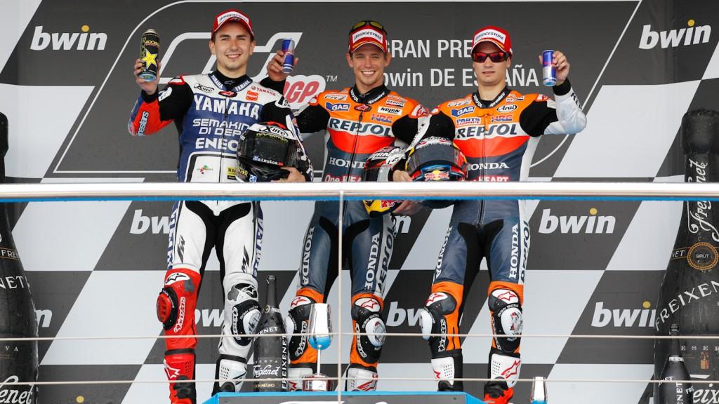 Jorge Lorenzo, Casey Stoner, Dani Pedrosa, Yamaha Factory Racing, Repsol Honda MotoGP, Jerez RAC