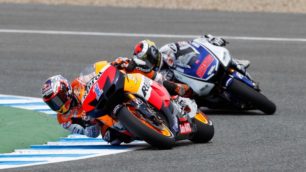 Casey Stoner, Jorge Lorenzo, Repsol Honda Team, Yamaha Factory Racing, Jerez RAC