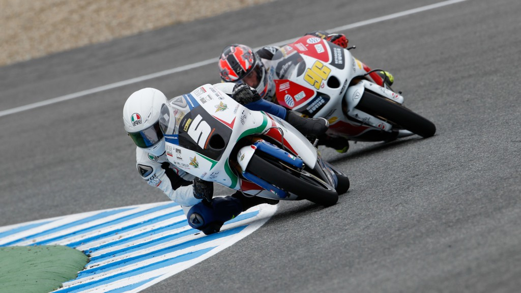 Romano Fenati, Louis Rossi, Team Italia FMI, Racing Team Germany, Jerez RAC