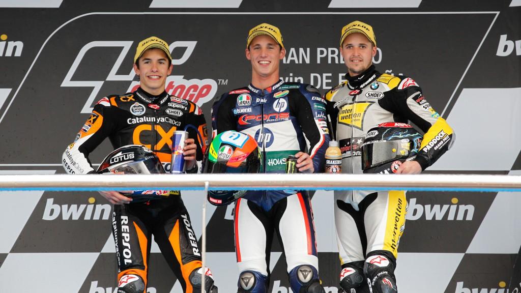 Marc Marquez, Pol Espargaro, Thomas Luthi, Team CatalunyaCaixa Repsol, Pons HP Tuenti, Interwetten-Paddock, Jerez RAC