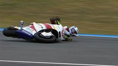 Jerez 2012 - Moto2 - Race - Action - Randy Krummenacher - Crash