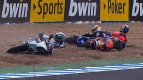 Jerez 2012 - Moto3 - Race - Action - Miller, Grotzkyj and Kent - Crash