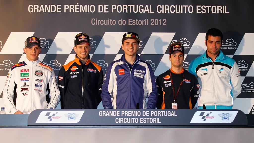 Bradl, Stoner, Lorenzo, Pedrosa, Petrucci, Grande Prémio de Portugal Press Conference