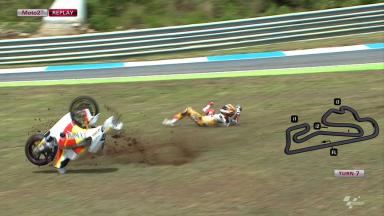 Estoril 2012 - Moto2 - FP2 - Action - Angel Rodriguez - Crash