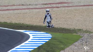 Estoril 2012 - Moto3 - FP2 - Action - Adrian Martin - Crash