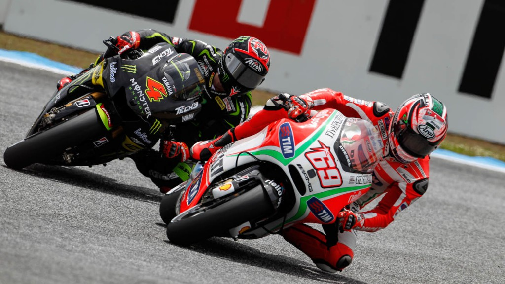 Nicky Hayden, Andrea Dovizioso, Ducati Team, Monster Yamaha Tech 3, Estoril QP