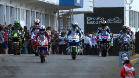 Unter den bislang besten Witterungsverhältnissen hat Dani Pedrosa von Repsol Honda Team beim Grande Prémio de Portugal Circuito Estoril ganz klar den Ton vor seinem Teamkollegen Casey Stoner angegeben, bevor die Qualifikation am Nachmittag stattfindet.