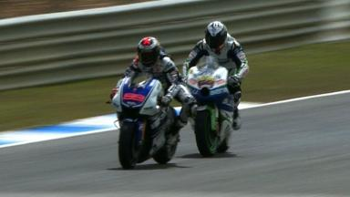 Estoril 2012 - MotoGP - QP - Action - Lorenzo and Hernandez