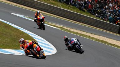 Casey Stoner, Jorge Lorenzo, Dani Pedrosa, Repsol Honda Team, Yamaha Factory Racing, Estoril RAC