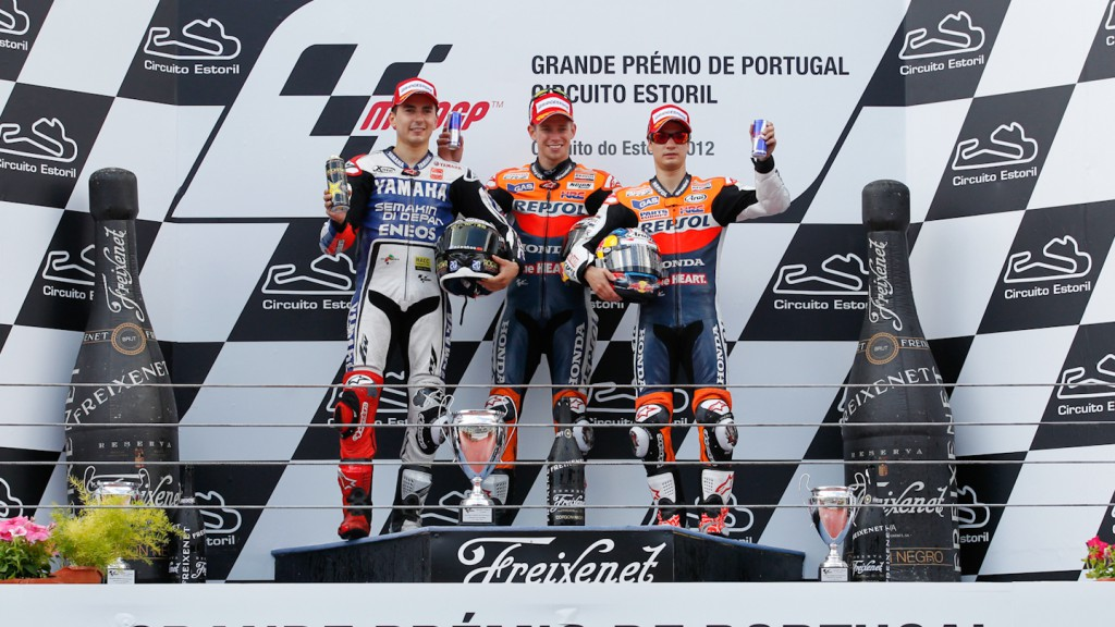 Lorenzo, Stoner, Pedrosa, yamaha Factory Racing, Repsol Honda Team, Estoril RAC