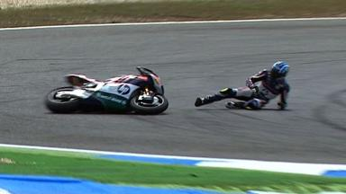 Estoril 2012 - Moto2 - Race - Action - Axel Pons - Crash