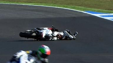 Estoril 2012 - Moto2 - Warm Up - Action - Elena Rosell - Crash