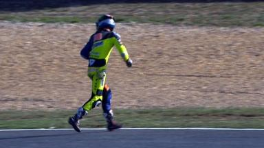 Estoril 2012 - Moto2 - Warm Up - Action - Bradley Smith - Crash