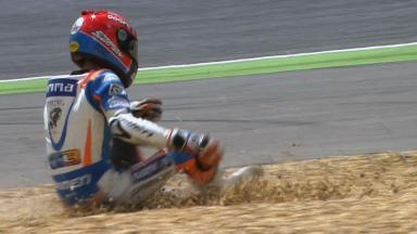 Estoril 2012 - Moto3 - Race - Action - Jasper Iwema - Crash