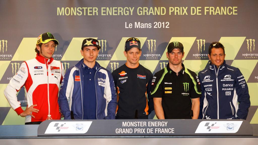 Rossi, Lorenzo, Stoner, Crutchlow, De Puniet, Monster Grand Prix de France Press Conference