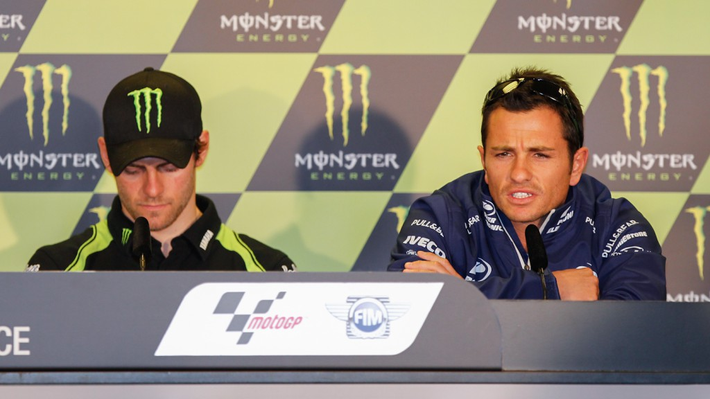 Randy de Puniet, Power Electronics Aspar, Monster Grand Prix de France Press Conference