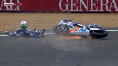 Le Mans 2012 - MotoGP - FP -Action - Aleix Espargaró - Crash