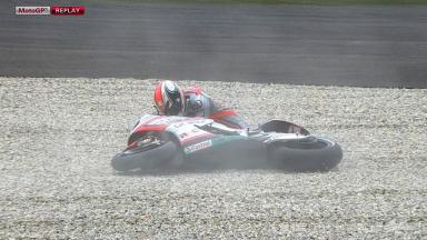 Le Mans 2012 - MotoGP - FP -Action - Mattia Pasini - Crash