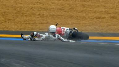 Le Mans 2012 - Moto2 - FP2 -Action - Max Neukirchner - Crash