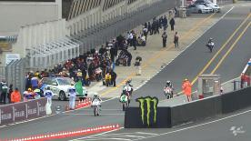 Bei der vierten Etappe der Moto3™-Meisterschaft beim Monster Energy Grand Prix de France in Le Mans war Maverick Viñales von Blusens Avintia der Tempomacher im ersten freien Training, dicht gefolgt von Miguel Oliveira von Estrella Galicia 0,0.
