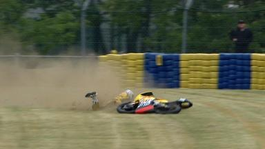 Le Mans 2012 - Moto3 - FP2 - Action - Adrian Martin - Crash