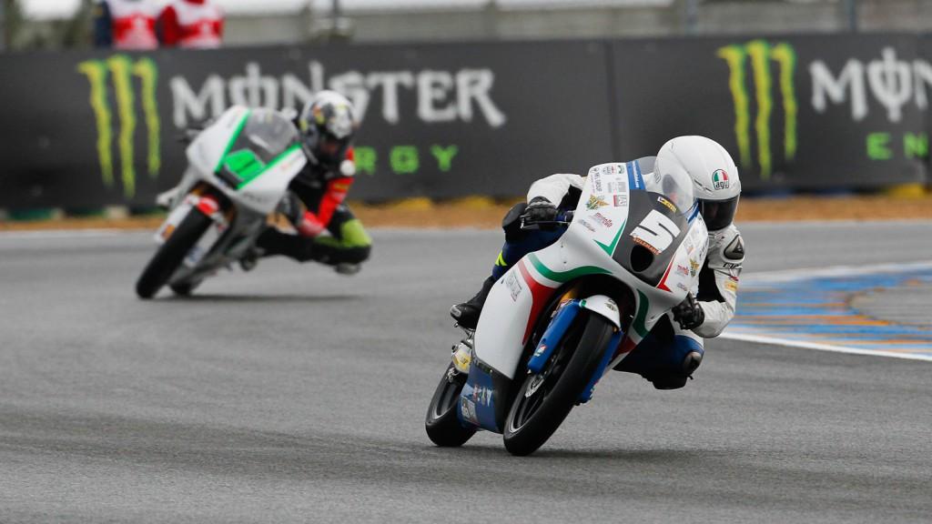 Romano Fenati, Team Italia FMI, Le Mans QP