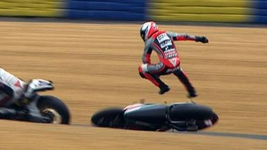 Le Mans 2012 - MotoGP - FP3 - Action - Mattia Pasini - Crash