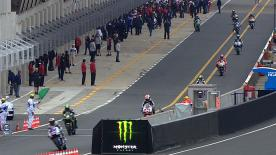 In a final free practice held in chilly conditions at the Monster Energy Grand Prix de France in Le Mans, it was Repsol Honda Team's Casey Stoner who set the pace ahead of Cal Crutchlow.