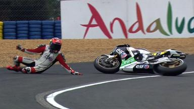 Le Mans 2012 - MotoGP - QP - Action - Stefan Bradl - Crash