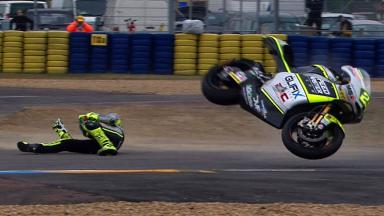 Le Mans 2012 - Moto2 - FP3 - Action - Andrea Iannone - Crash