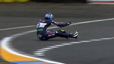 Le Mans 2012 - Moto2 - FP3 - Action - Axel Pons - Crash