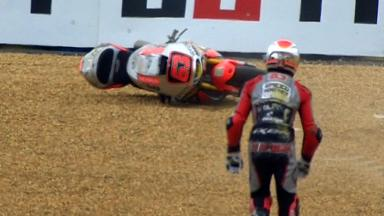 Le Mans 2012 - Moto2 - QP - Action - Mike Di Meglio - Crash