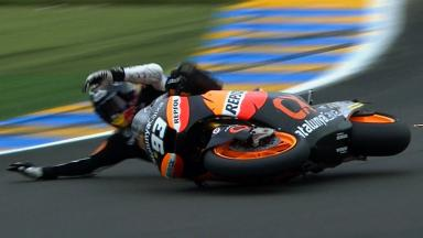 Le Mans 2012 - Moto2 - QP - Action - Marc Marquez - Crash
