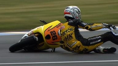 Le Mans 2012 - Moto3 - QP - Action - Adrian Martin - Crash