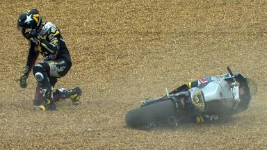 Le Mans 2012 - Moto2 - QP - Action - Scott Redding - Crash