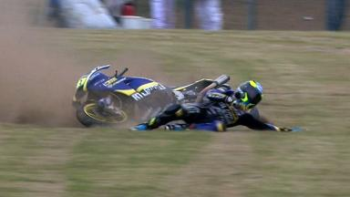 Le Mans 2012 - Moto2 - QP - Action - Xavier Simeon - Crash