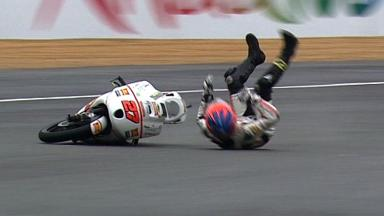 Le Mans 2012 - Moto3 - QP - Action - Niccolo Antonelli - Crash