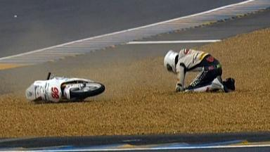 Le Mans 2012 - Moto3 - QP - Action - Kevin Hanus - Crash