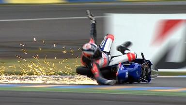Le Mans 2012 - Moto3 - QP - Action - Jack Miller - Crash
