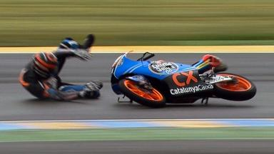 Le Mans 2012 - Moto3 - QP - Action - Miguel Oliveira - Crash