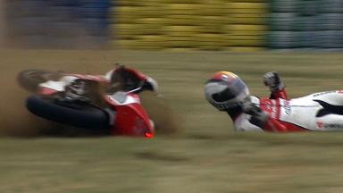 Le Mans 2012 - Moto3 - QP - Action - Marcel Schrotter - Crash
