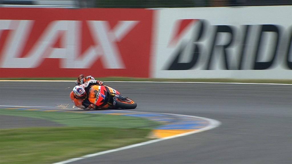 Casey Stoner, Repsol Honda Team - MotoGP FP3 crash