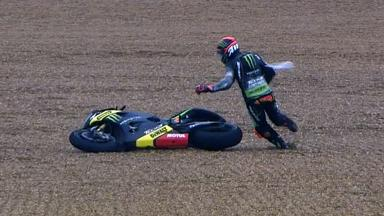 Le Mans 2012 - MotoGP - Race - Action - Andrea Dovizioso - Crash